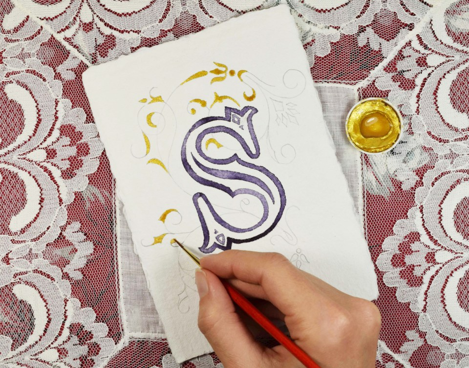 Adding Gold to the Illuminated Letter