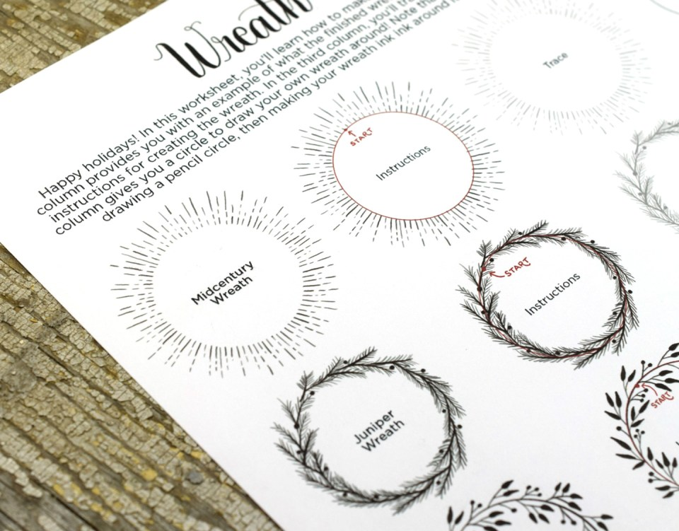 The TPK Illustrated Wreath Worksheet