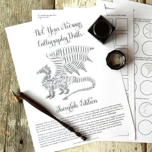 These fairytale calligraphy drills are fanciful and fun! A great way to improve your calligraphy while catering to your creativity.