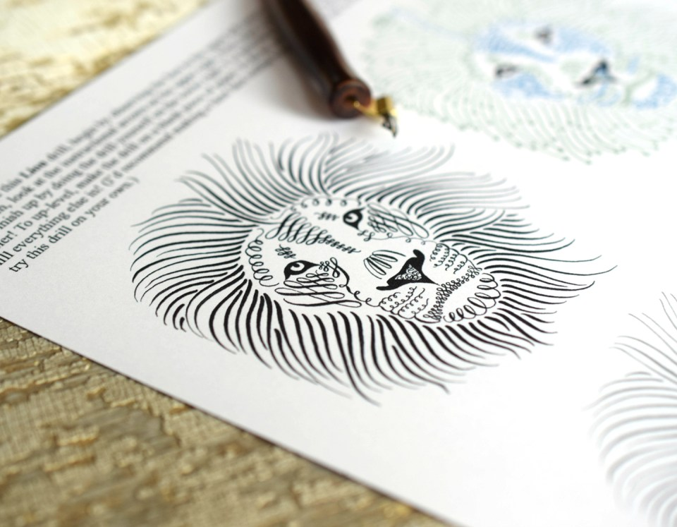 Lion Calligraphy Drill