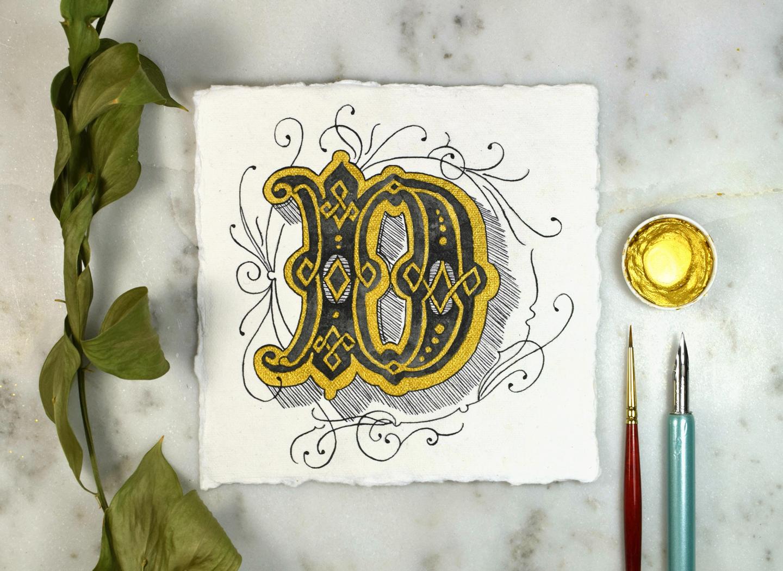 Next Level Illuminated Letter Tutorial