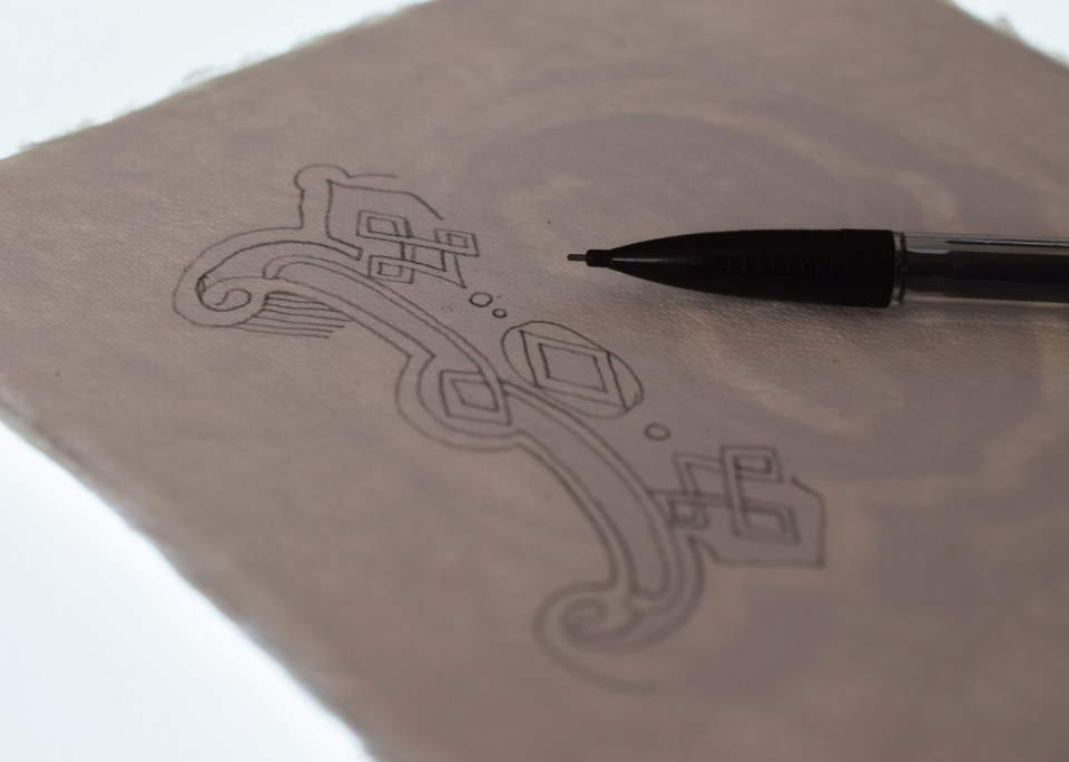 Using a Lightbox to Trace the Illuminated Letter