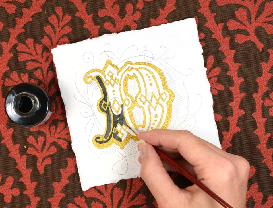 Adding Sepia Ink to a Letter