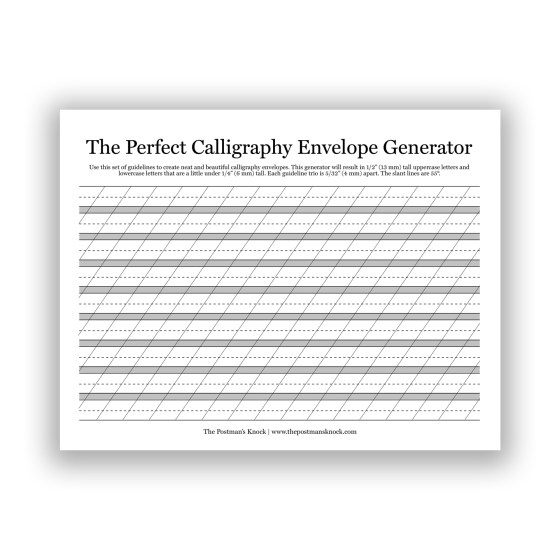 This PDF will help you to address all sorts of envelopes!