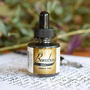 Dr. Ph. Martin's sepia ink is an antique-inspired brown/gray tone. I love it for writing letters!