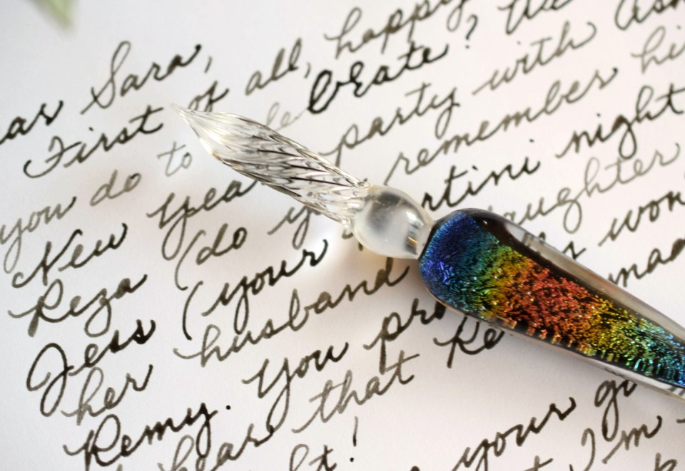 Write With Glass: Introducing Venetian Glass Dip Pens