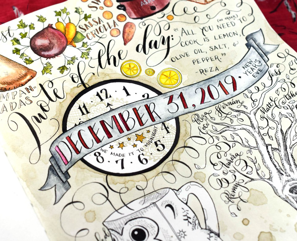 "How to Add Color to Your ""Day in the Life"" Sketchbook Layout"
