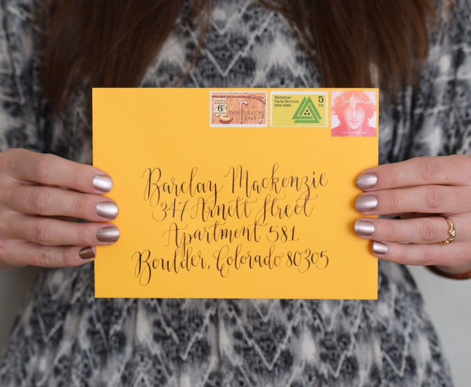Calligraphed Envelope