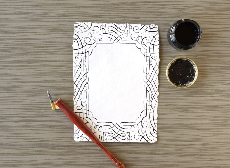 Traceable Calligraphy Flourishes Card Tutorial