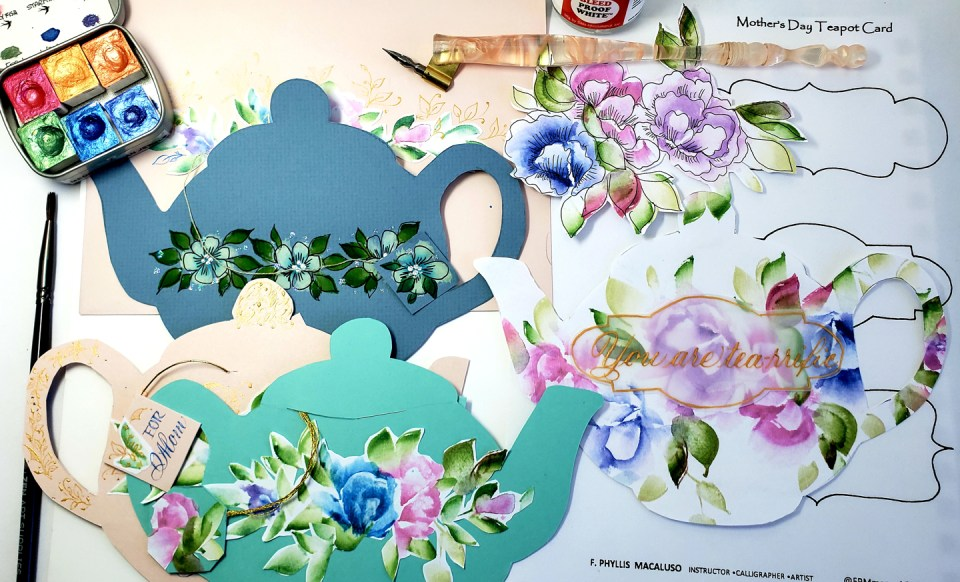 Teapot-Themed Mother's Day Card Tutorial by Phyllis Macaluso