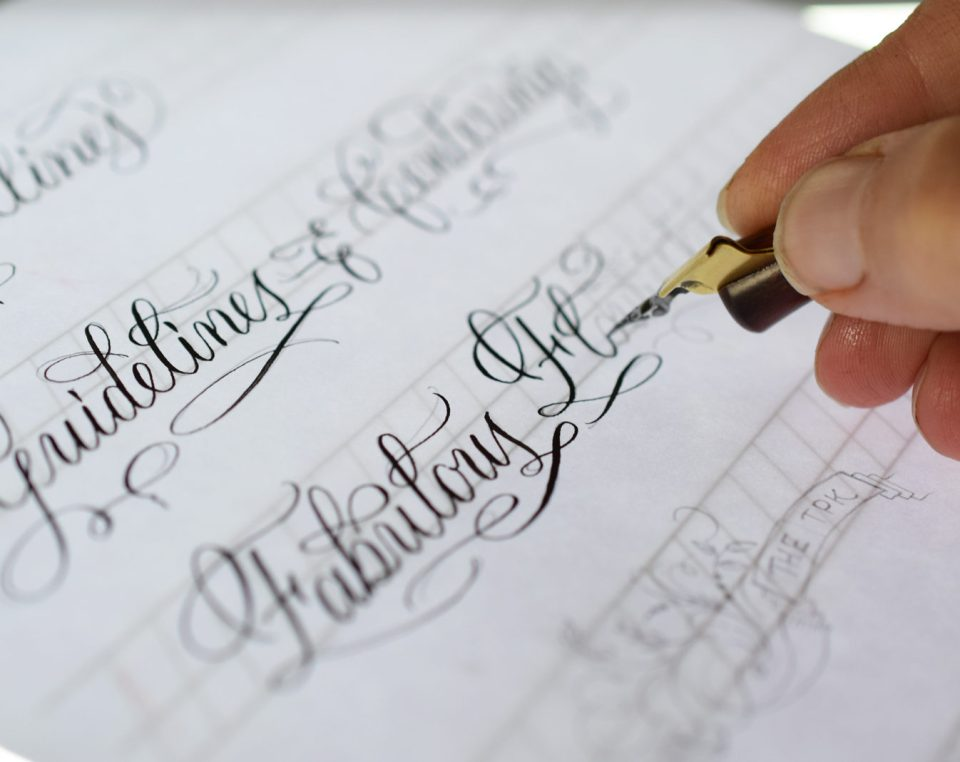 Free Lettering and Calligraphy Guidelines for TPK Subscribers