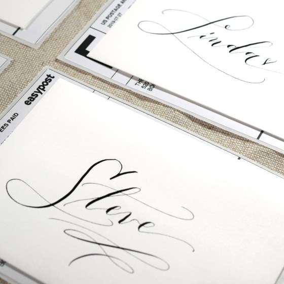 Cocktail Calligraphy is awesome if you need to make lovely-looking calligraphy pieces quickly!