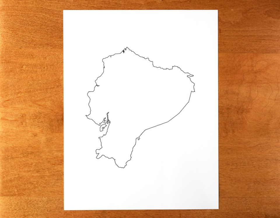 Printout of Ecuador Outline