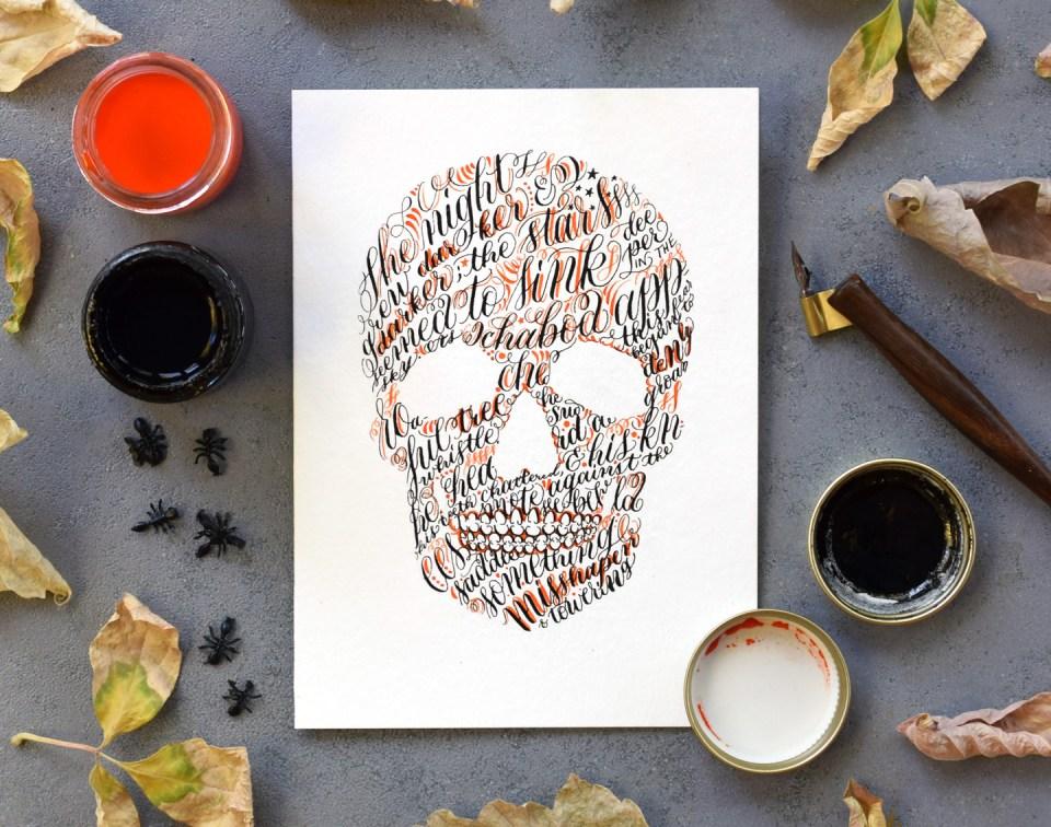 """Sleepy Hollow"" Skull Halloween Card Tutorial"