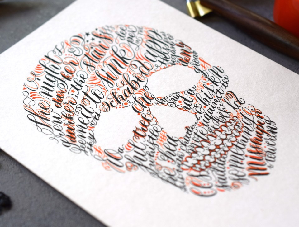 """Sleepy Hollow"" Skull Halloween Card Tutorial"