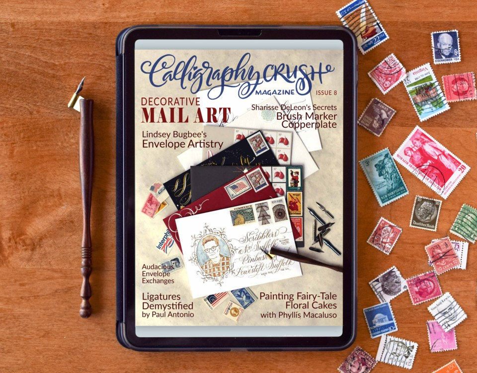 On the Cover of Calligraphy Crush Magazine!