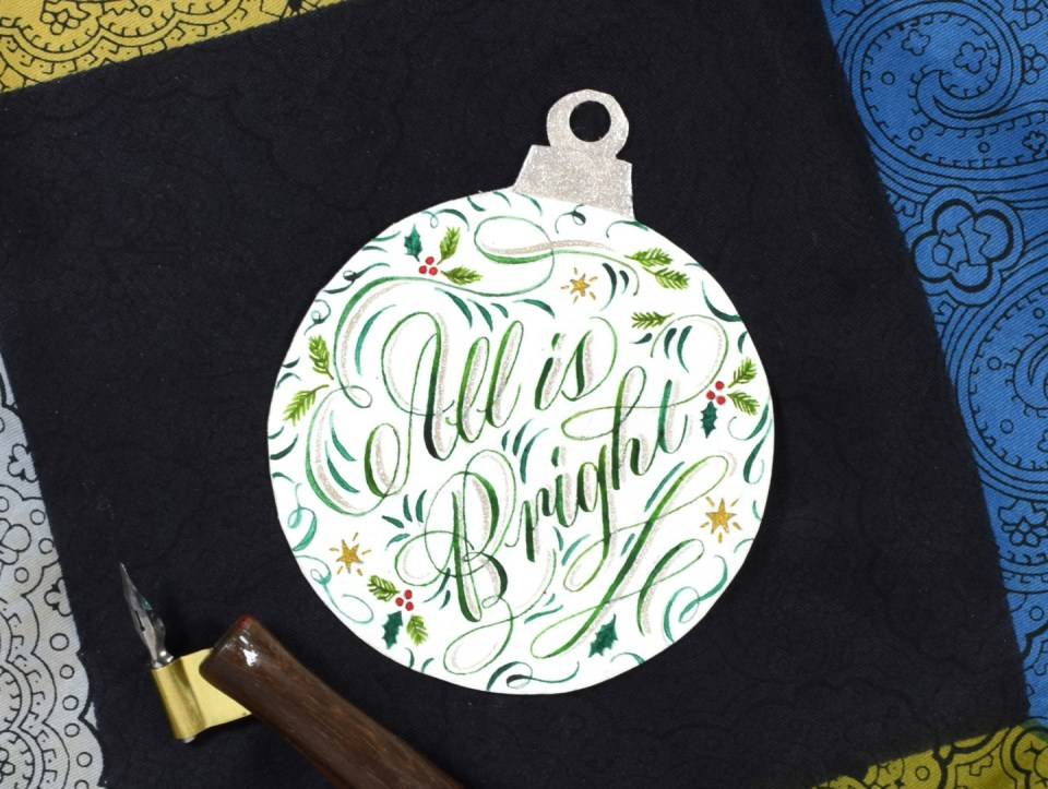 Calligraphy Christmas Ornament