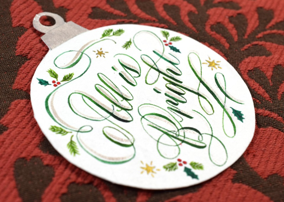 Calligraphy Christmas Ornament Tutorial