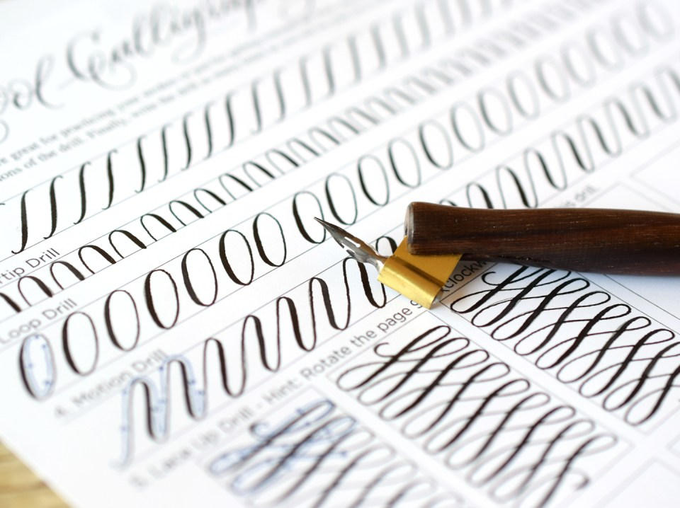 FREE & Fresh Printable Calligraphy Drills