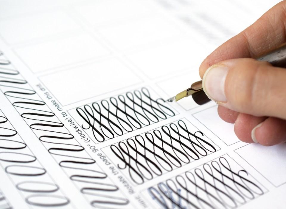 Printable Calligraphy Drills