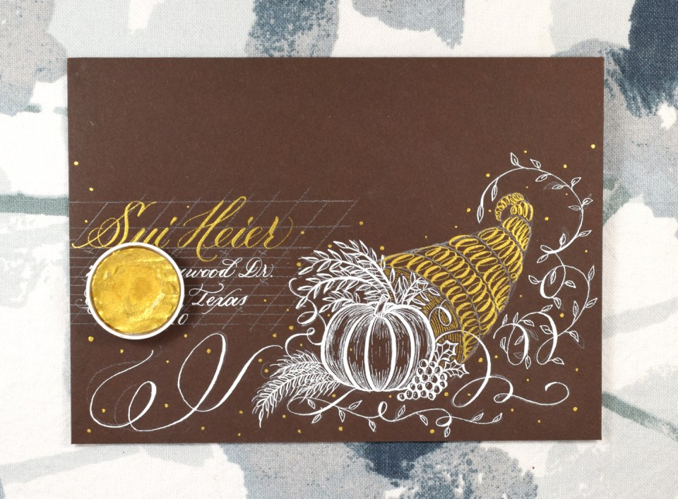 Adding Finishing Touches to the Cornucopia Envelope