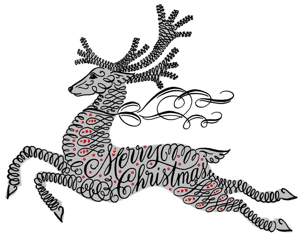 Adding Embellishments to the Flourished Reindeer