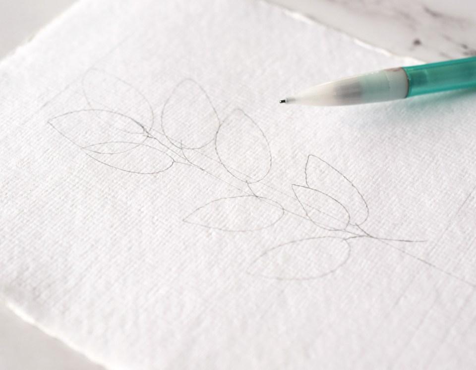 Pencil Draft for DIY Sympathy Card