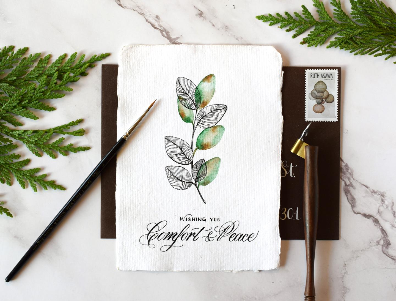 Serene DIY Sympathy Card Tutorial