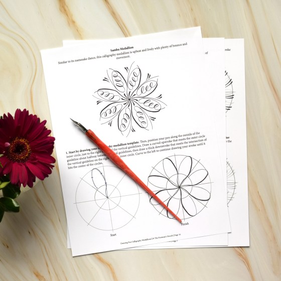 First, the worksheet walks you through how each medallion is created. Then, it encourages you to try making it yourself! There are sheets of blank circles at the back of the worksheet to help make your medallion creation easy.