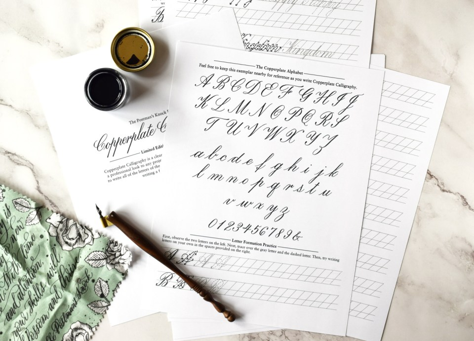 Copperplate Worksheets