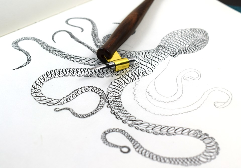 Octopus Calligraphy Art Tutorial