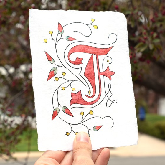 Botanical Illuminated Letter Tutorial