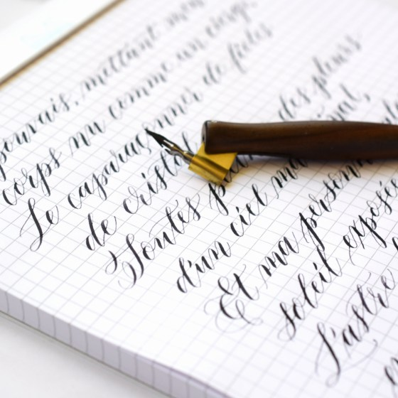 Rhodia has a smooth, high-quality feel to it. It's a pleasure to write on!
