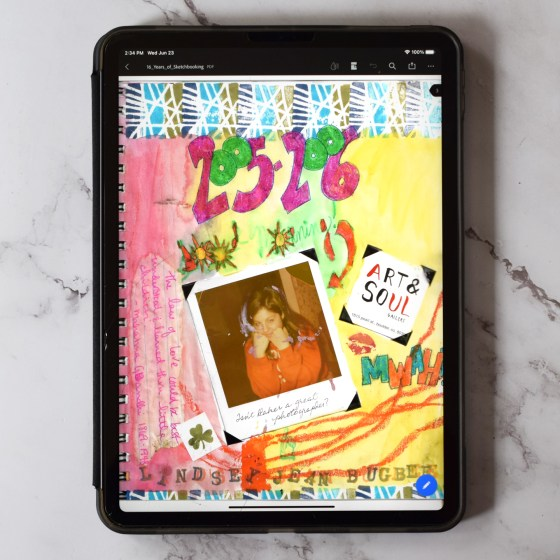 This eBook shows sketchbook pages from 2005 through 2021. It includes 93 full color pages.