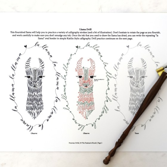 These drills will teach you how to make a fabulous flourished llama!