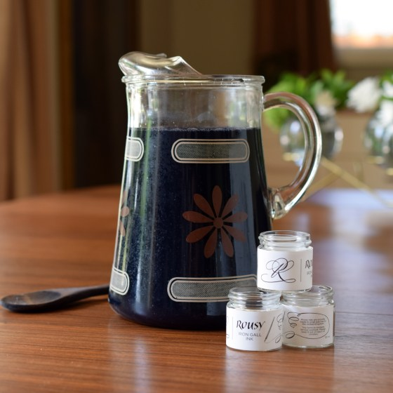 Each batch of ink is made in small batches and decanted into 30 ml jars.
