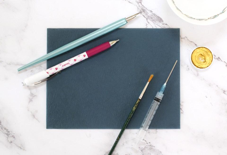 Supplies for Stunning + Simple Filigree Illustrated Leaf Tutorial