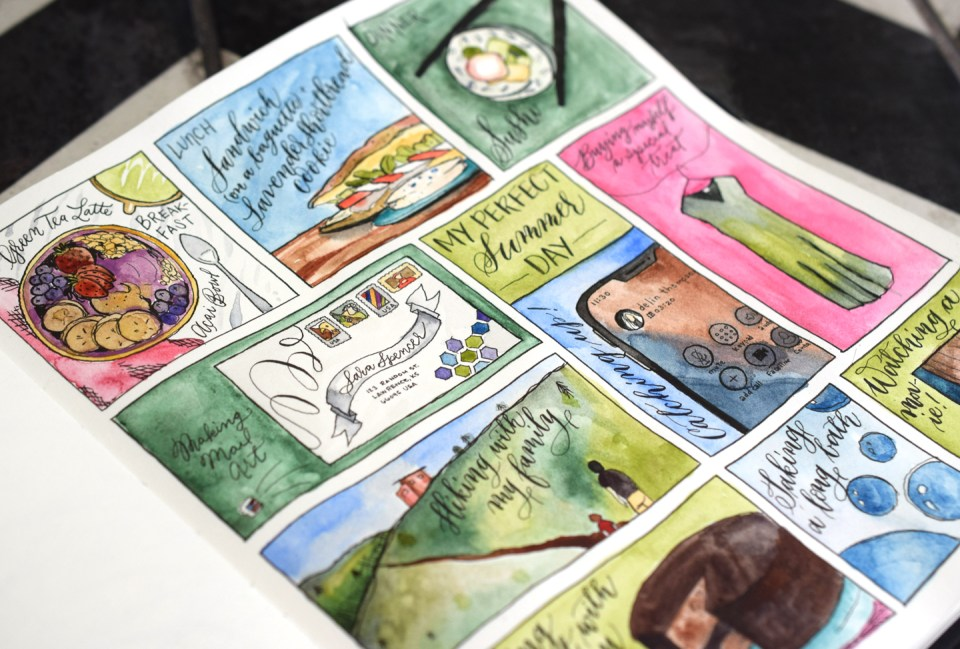 """☀ """"My Perfect Summer Day"""" Sketchbook Page Tutorial 