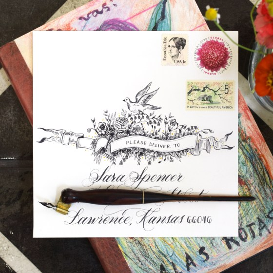 This two-page instructional document will walk you through how to make a vintage-inspired embellished banner. The banner is a gorgeous addition to mail art, sketchbook pages, bullet journals, and more!