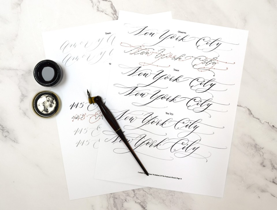 Cocktail Casual Calligraphy Drills