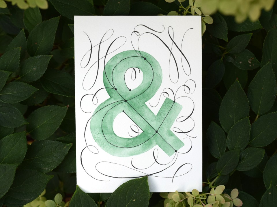 (Super) Easy Flourished Ampersand Tutorial   The Postman's Knock