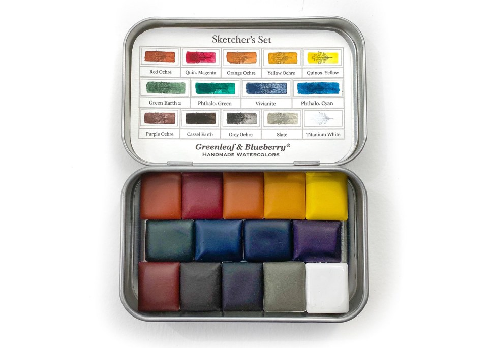 Sketcher's Watercolor Paint Set by Greenleaf & Blueberry