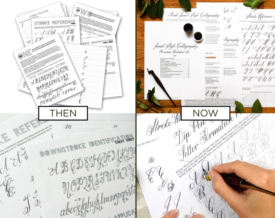 TPK Calligraphy Worksheets: Then and Now