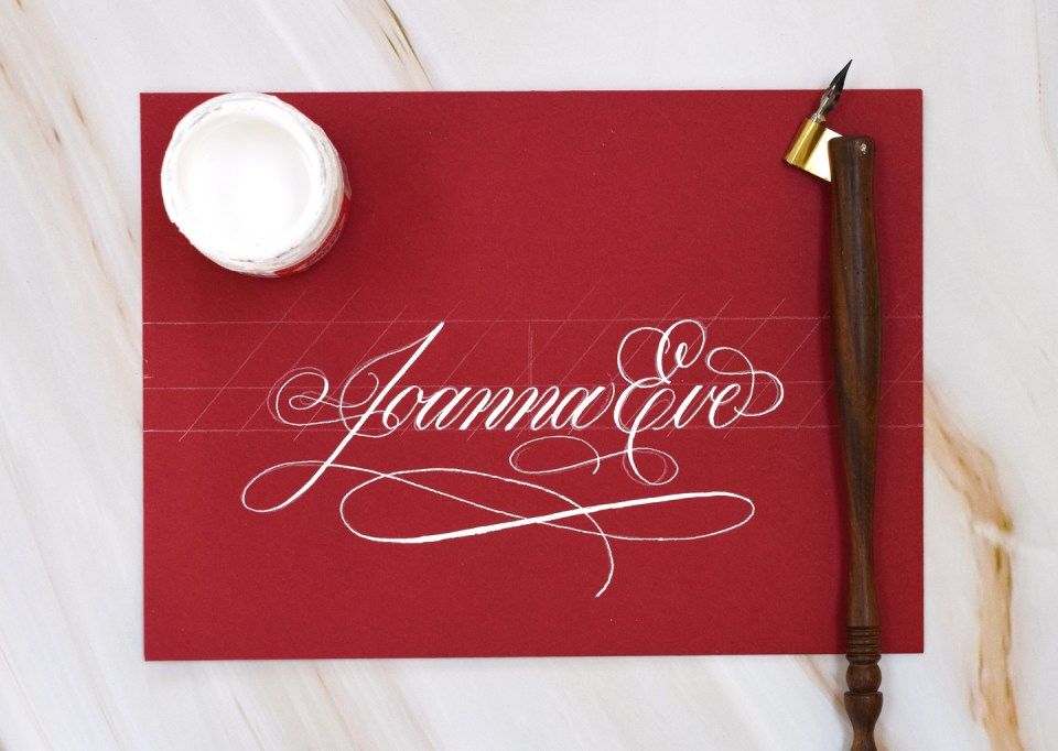 Draft of Calligraphy for a Name-Only Envelope