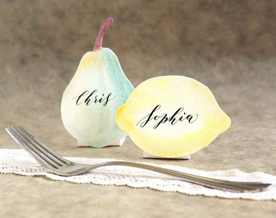 Fruity Watercolor Place Cards Tutorial