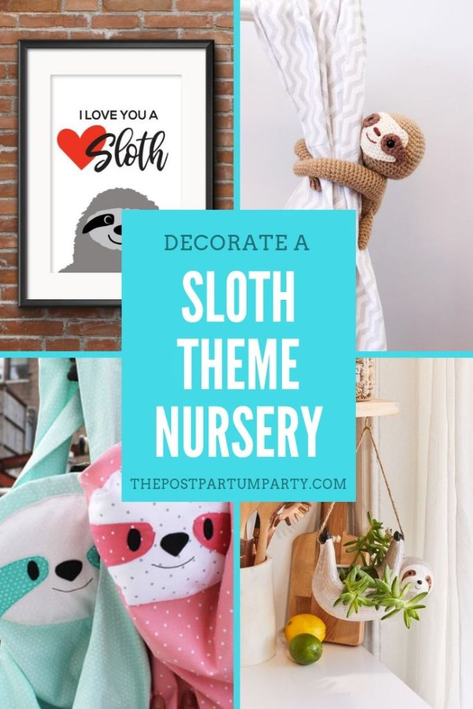 decorate a sloth theme nursery