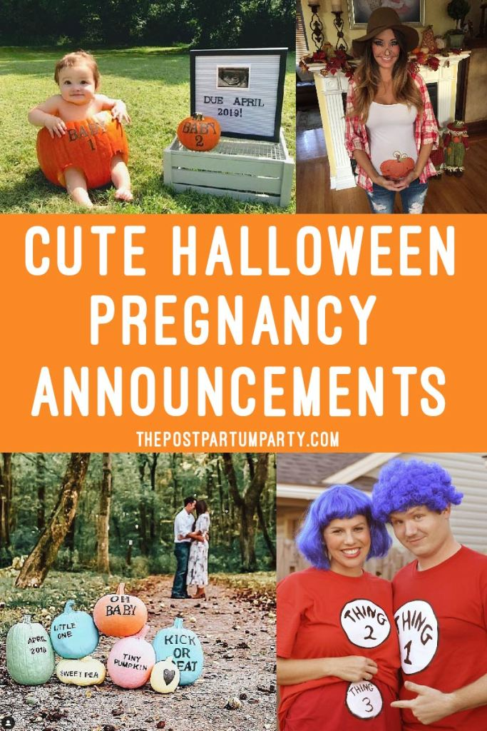 Announcing your pregnancy this Halloween? Get some inspiration on how you can announce your Halloween pregnancy with these adorable Halloween pregnancy announcement ideas that are scary cute!