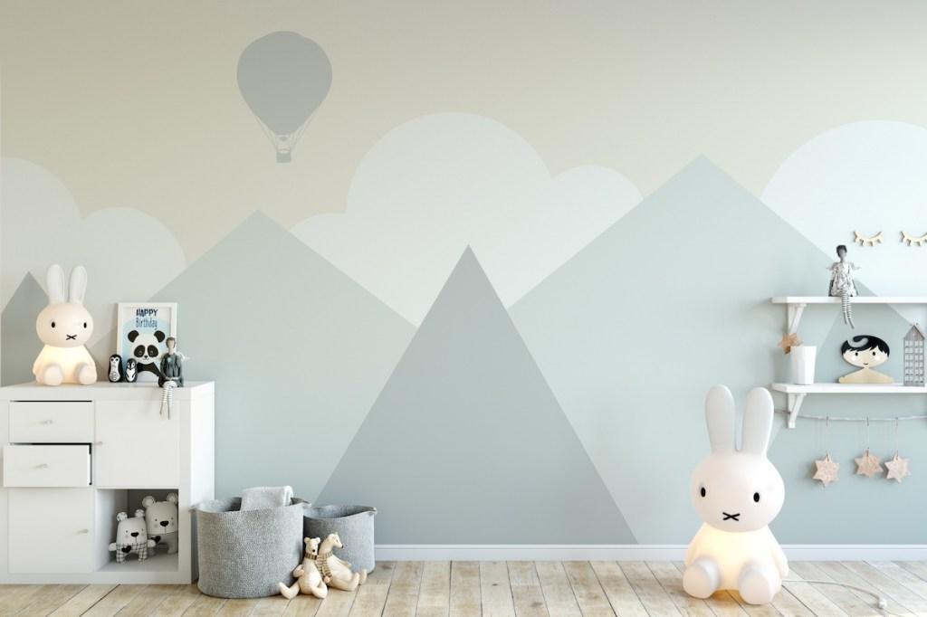 mountain painted nursery