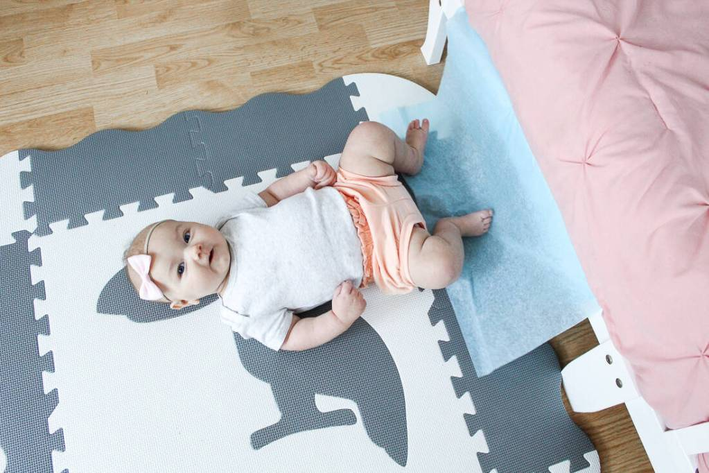 easy indoor activities baby kicking tissue