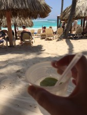 Drink, sand, water
